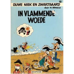 Ouwe Niek en Zwartbaard 18<br>In vlammende woede<br>1e druk 1974