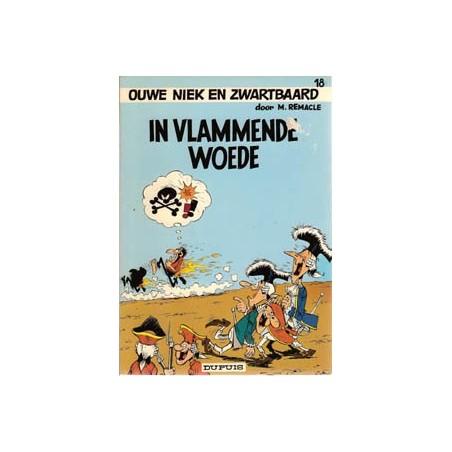 Ouwe Niek en Zwartbaard 18% In vlammende woede 1e druk 1974