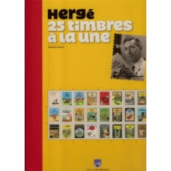 Herge (Kuifje) Herge 25 Timbres a la une Luxe HC
