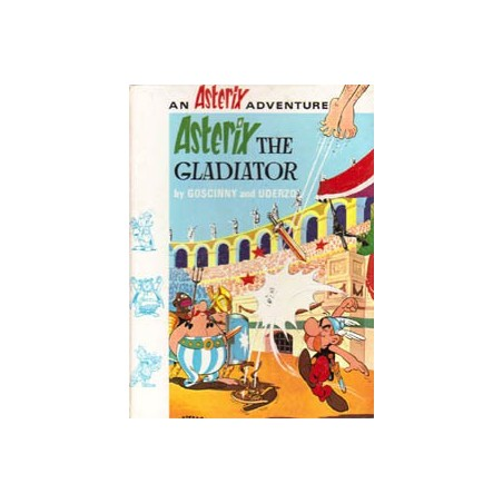 Asterix Taal Engels - The Gladiator HC herdruk 1972