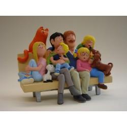 Jan, Jans en de kinderen<br>beeldje JJ19<br>De familie op de ban