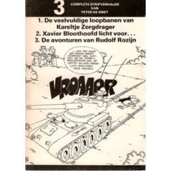 Kareltje Zorgdrager 3 strips van Peter de Smet 1e druk
