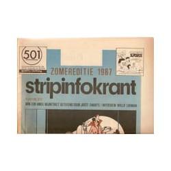 Swarte Stripinfokrant Zomereditie 1987 omslag van Joost