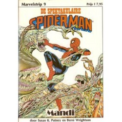 Marvel-strip 09<br>Spektakulaire Spiderman Mandi<br>1e druk 1986