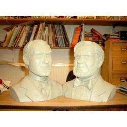 Blake & Mortimer<br>beeld LBM05/06 - Buste setje grijs