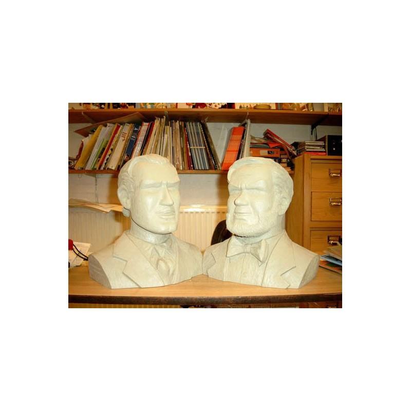 Blake & Mortimer beeld LBM05/06 - Buste setje grijs