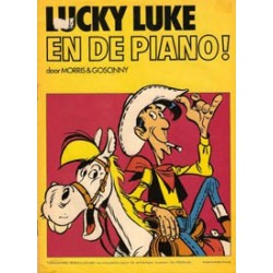 Lucky Luke<br>SP Chevron strip<br>En de piano!<br>1977