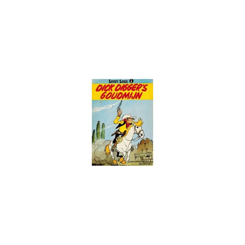 Lucky Luke 01 Dick Digger's goudmijn herdruk