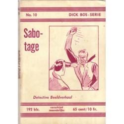 Dick Bos N10 Sabotage herdruk 1961