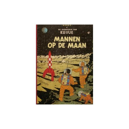 Kuifje linnen rug HC Mannen op de maan herdruk [A 1958 ' ]