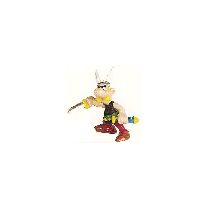 Asterix poppetjes Asterix trekt zijn zwaard