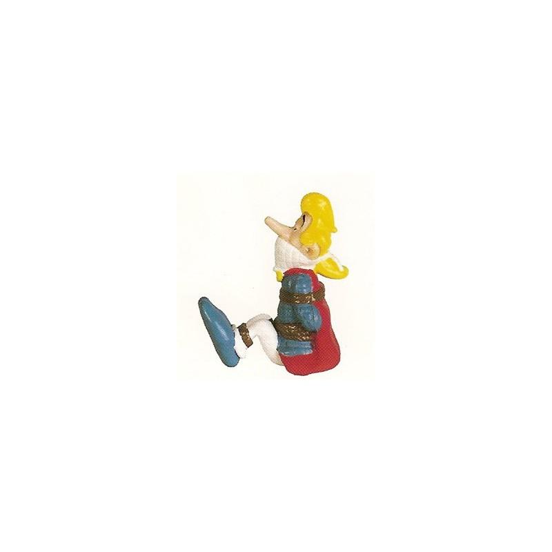 Asterix poppetjes Assurancetourix vastgebonden