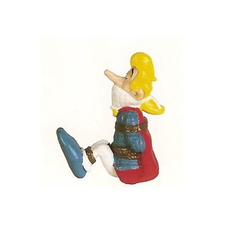 Asterix  poppetje Assurancetourix vastgebonden