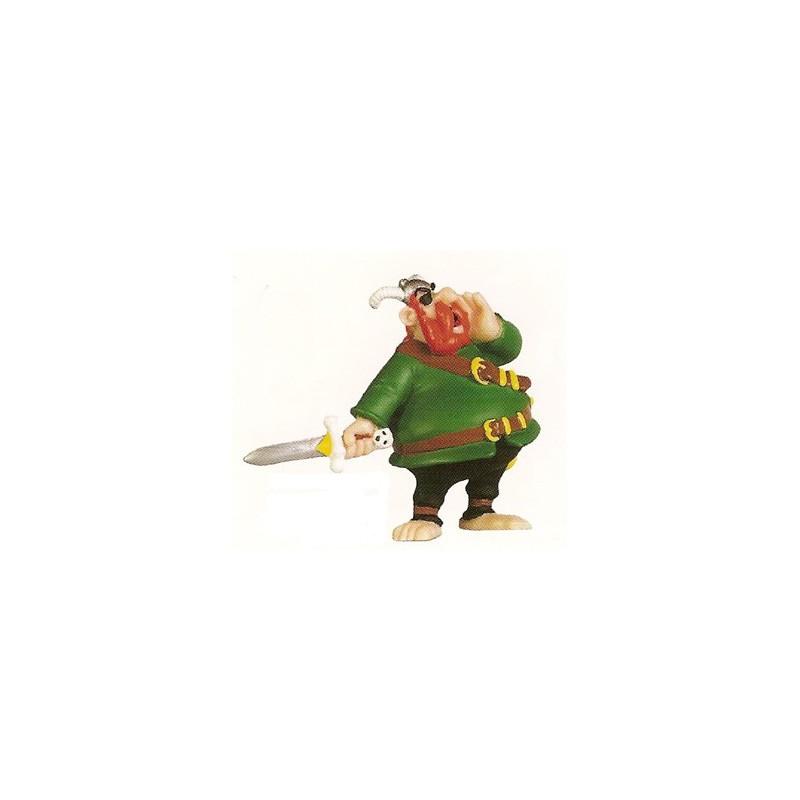Asterix poppetjes Roodbaard de piraat