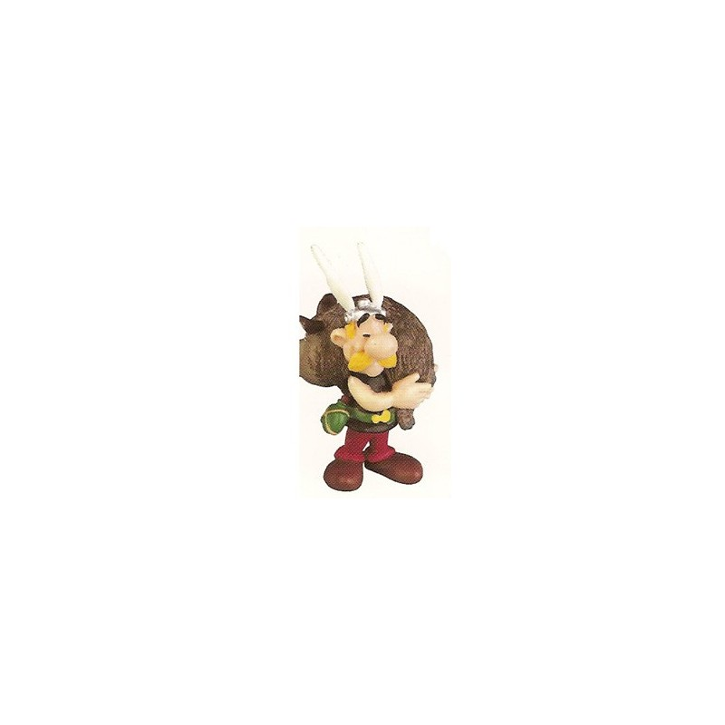 Asterix poppetjes Asterix met everzwijn
