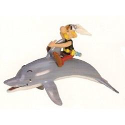 Asterix poppetjes<br>Asterix op een dolfijn