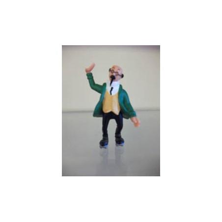 Kuifje poppetjes Plastoy Professor Zonnebloem rolschaaten