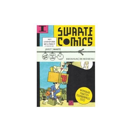 Swarte  strips Swarte comics 01 & 02 set 2 leporello boekjes met buikbandje