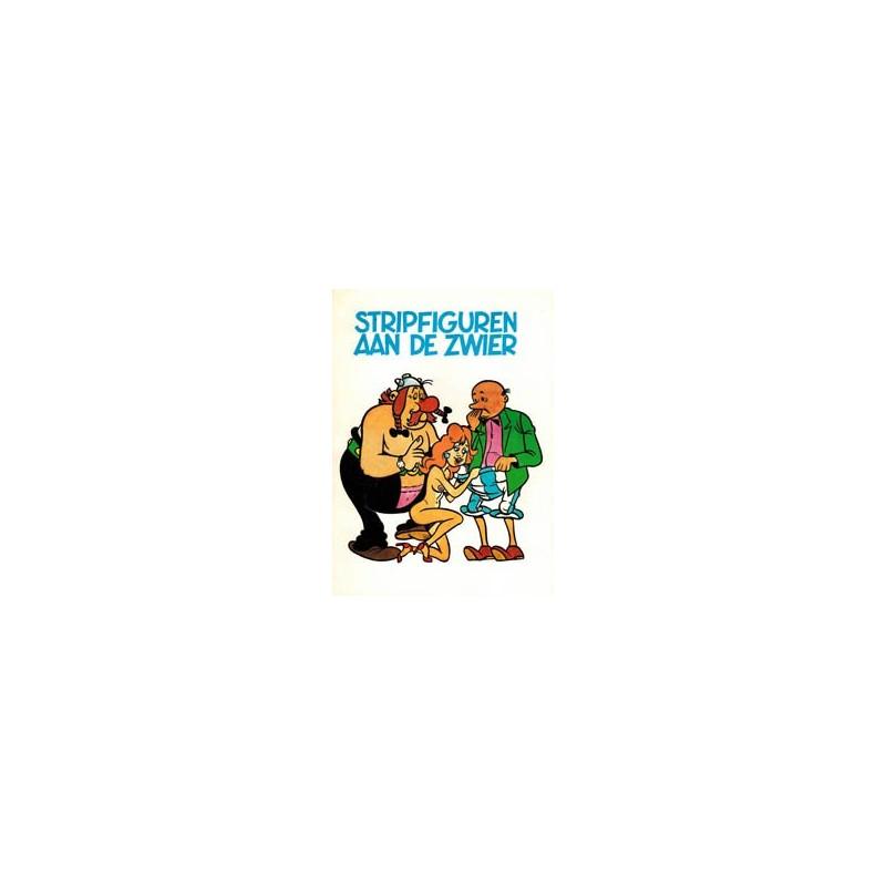 Stripfiguren aan de zwier sexparodie Asterix en Suske & Wiske (wit)