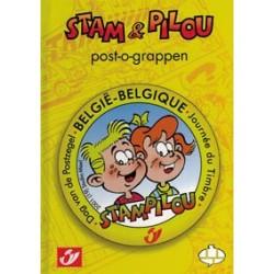Postzegelboekje Stam & Pilou Post-o-grappen HC