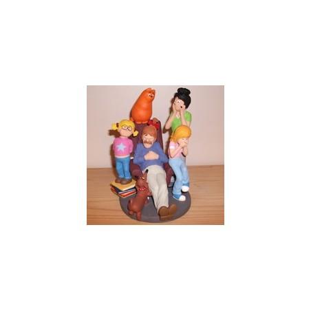 Jan, Jans en de Kinderen  beeldje JJ21 Jan op de stoel