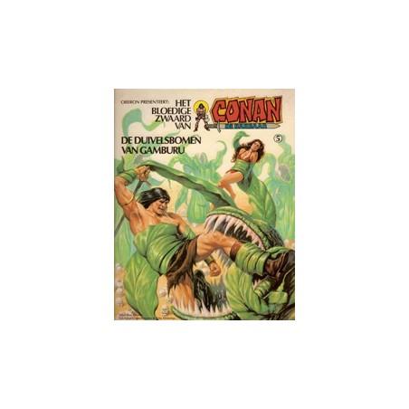 Conan<br>album 05 – De duivelsbomen van Gamburu<br>herdruk
