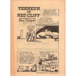 Dan Cooper<br>Terreur in Red Cliff<br>Eppo bijlage nr. 7 1981