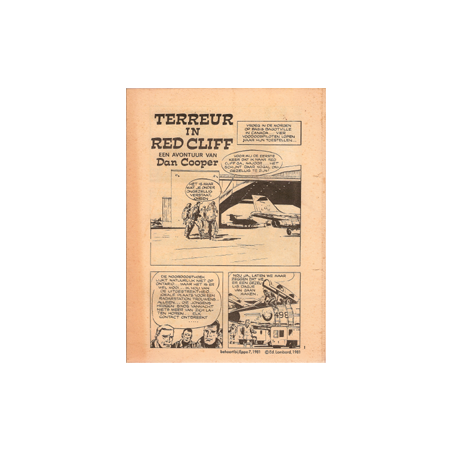 Dan Cooper Terreur in Red Cliff Eppo bijlage nr. 7 1981