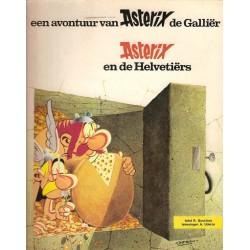 Asterix 16 De Helvetiers 1e druk 1973 met titellijst