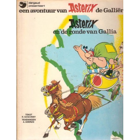 Asterix 05 De ronde van Gallia 1e uitgave Dargaud 1977