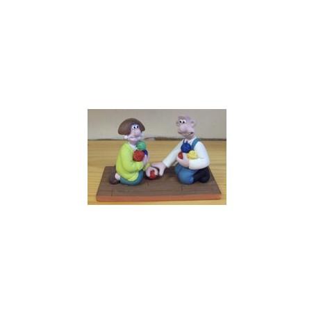 Wallace & Grommit beeld Wallace en vriendin