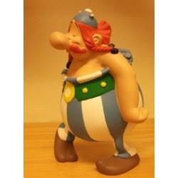 Asterix beeld Obelix verliefd