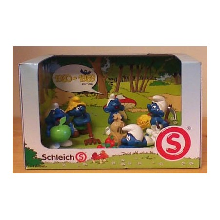 Smurfen poppetjes setje 1980-1989 (5 figuren)