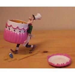 Lucky Luke tinfiguren 5477 Averell met taart