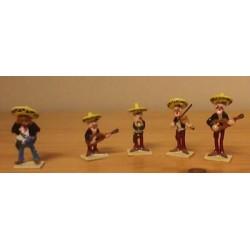Lucky Luke tinfiguren 2468 pixi-mini set Tortillas voor de Daltons