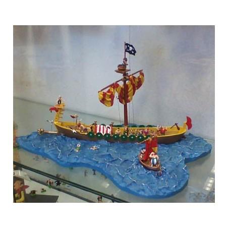 Asterix tinfiguren Het Piratenschip (De grote oversteek)