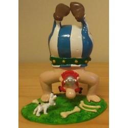 Asterix tinfiguren 4225 Obelix handstand