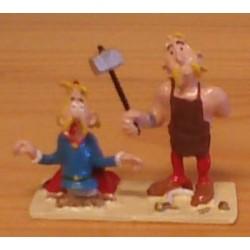 Asterix tinfiguren 2311 pixi-mini Hoefnix mept Assurancetourix