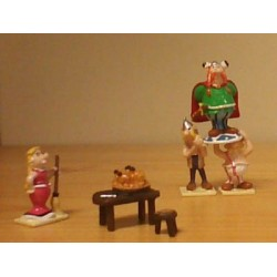 Asterix tinfiguren 2307 pixi-mini set Het huis van het stamhoofd