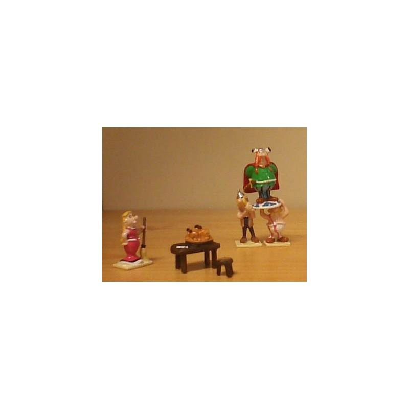 Asterix tinfiguren 2307 pixi-mini set Het huishouden van het stamhoofd