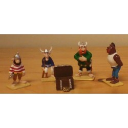 Asterix tinfiguren 2306 pixi-mini set Piraten met schatkist