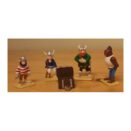 Asterix tinfiguren 2306 pixi-mini set Piraten met schatkist