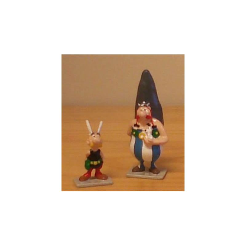Asterix tinfiguren 2102/2103 pixi-mini set Asterix en Obelix