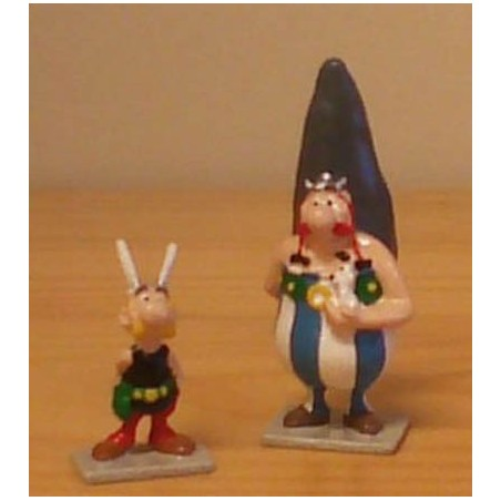 Asterix tinfiguren 2102/2103 pixi-mini set Asterix en Obelix