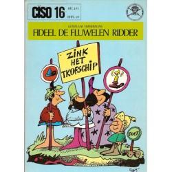 Ciso 16 Fideel de fluwelen ridder 1e druk 1974 blauwe voorkant