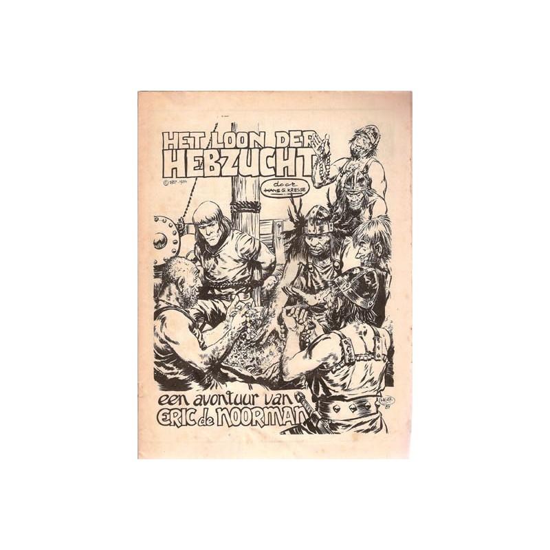 Eric de Noorman Panorama-bijlage Het loon der Hebzucht 1e druk 1984