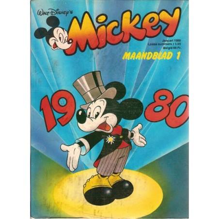 Mickey Mouse Maandblad jaargang 1980 1 t/m 12