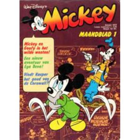 Mickey Mouse Maandblad jaargang 1977 1 t/m 12