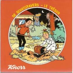 Suske & Wiske Discoboek De schatgravers / Le tresor 1e druk 1978