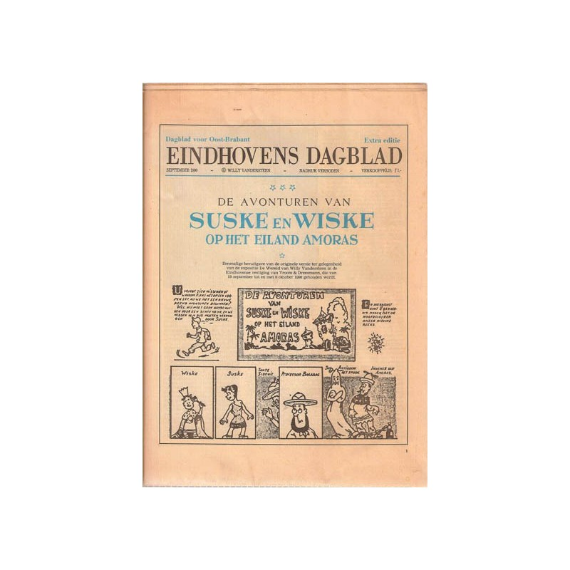 Suske & Wiske SP Op het eiland Amoras Extra editie Eindhovens Dagblad  1e druk 1990